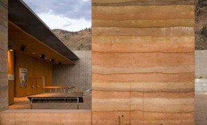 Rammed earth walls RISE Design Studio architect west london