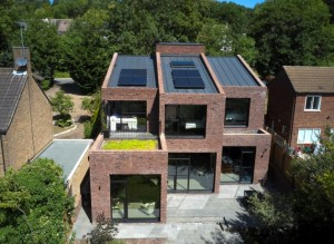 Mill Hill new build RISE Design Studio Green roof